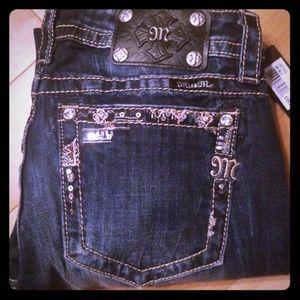 NWT Miss Me sz 28 signature cuffed skinny jeans